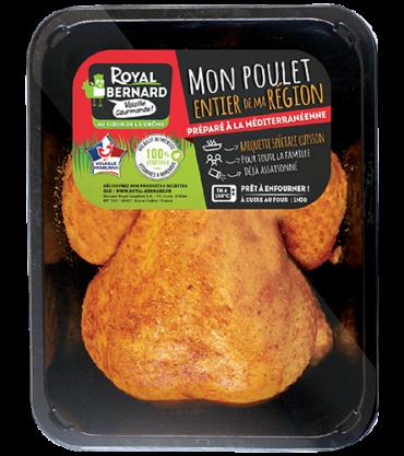 Mon poulet entier préparé à la Méditerranéenne